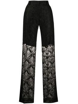 MSGM брюки прямого кроя с цветочным кружевом 2842MDP101207305