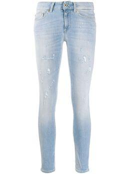Dondup укороченные джинсы с эффектом потертости P692DS0268AB7