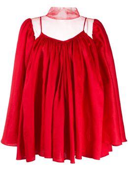 Atu Body Couture расклешенная блузка с прозрачными вставками ATS2064