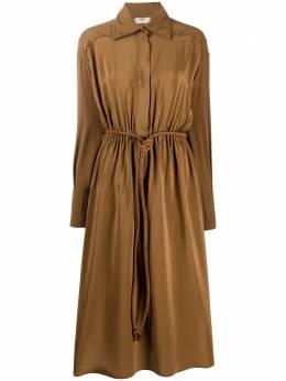 Fendi платье-рубашка из крепдешина FDA816A5Z5