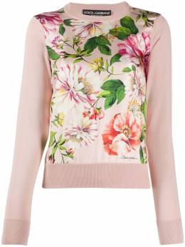 Dolce&Gabbana джемпер с цветочным принтом FX621TJASKJ