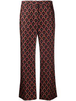 Alberto Biani укороченные жаккардовые брюки с принтом CC836SE3104