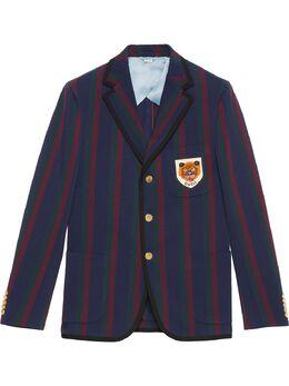 Gucci полосатый пиджак с нашивкой 581851ZABLO