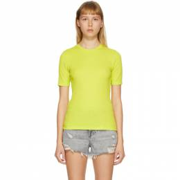 Rag&Bone Green The Rib Slim T-Shirt WCC20PT059JR59-FRESHL