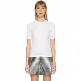 Rag&Bone White The Rib Slim T-Shirt WCC19HT059JR59-WHT
