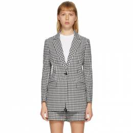 Rag&Bone Black and White Ames Blazer WAW20P4007NL07-BLKWHT