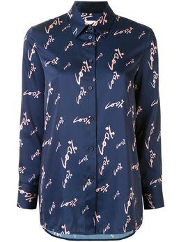 Portspure атласная рубашка с принтом RL8B031LPP011NIGHTSKYMIX
