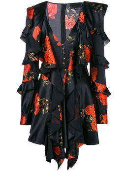 Philipp Plein ruffled floral print dress WRG0747PTE104N