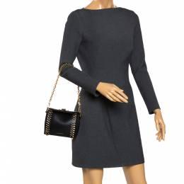 Alexander McQueen Black Studded Leather Box 16 Shoulder Bag 291991