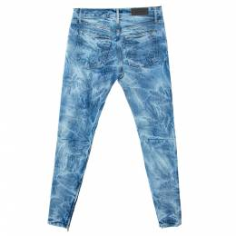 Fear Of God Indigo Acid Washed Denim Slim Fit Selvedge Jeans M 291764