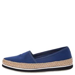 Prada Sport Blue Canvas Espadrille Loafers Size 38 292004