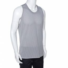 Fear Of God Fifth Collection Grey Perforated Knit Sleeveless T Shirt S 291640