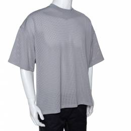 Fear Of God Fifth Collection Grey Perforated Knit Oversized T Shirt S 291641