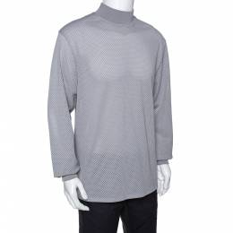 Fear Of God Fifth Collection Grey Perforated Knit Long Sleeve T Shirt M 291643