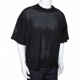 Fear Of God Fifth Collection Black Perforated Knit Oversized T Shirt S 291620