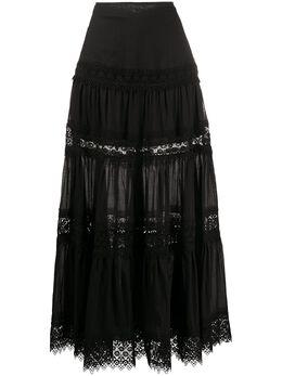 Charo Ruiz Ibiza юбка макси Ruth с вышивкой 201404