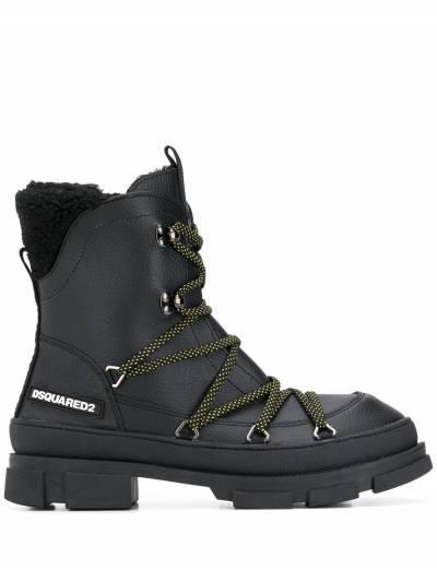 Dsquared2 ботинки в стиле милитари на шнуровке SBM000725100001 - 1