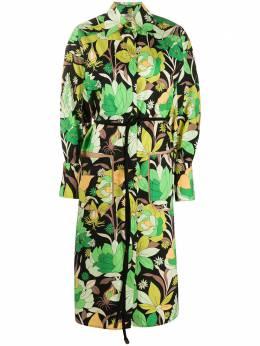 Fendi платье-рубашка с цветочным принтом FDA803A5T3