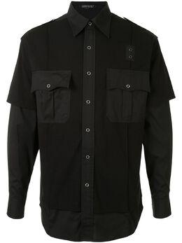 Sankuanz двухслойная рубашка с карманами SKZM20SS0SL0301