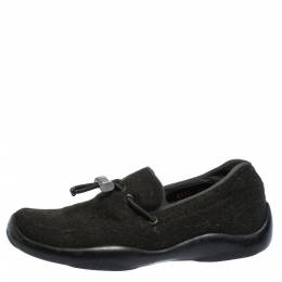 Prada Sport Vibram Green Felt Toggle Loafers Size 37 291990