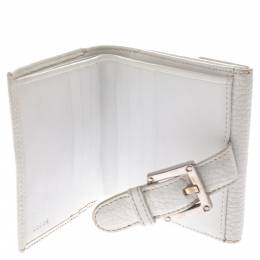 Loewe White Leather Compact Wallet 292535
