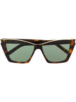 Saint Laurent Eyewear солнцезащитные очки в оправе 'кошачий глаз' SL369KATE