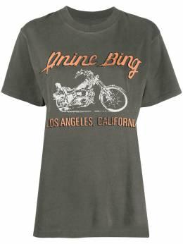 Anine Bing футболка LA с принтом A082140069