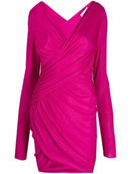 Alexandre Vauthier приталенное платье с эффектом металлик 202DR128902011206