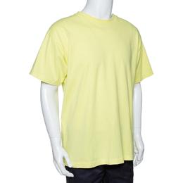 John Elliott Fluorescent Cotton Crew Neck T Shirt M 291561