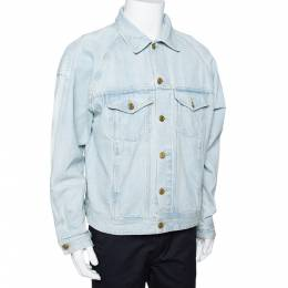 Fear Of God Fifth Collection Light Blue Denim Trucker Jacket M 291948