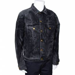 Fear Of God Black Acid Washed Denim Trucker Jacket M 291947
