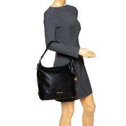 Michael Kors Black Leather Bedford Belted Shoulder Bag 292339