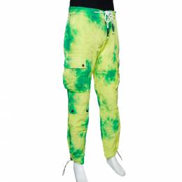 Palm Angels Fluorescent Tie Dye Nylon Cargo Pants L 291917