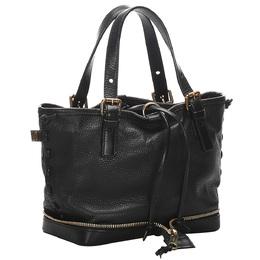 Chloe Black Leather Ellen Tote Bag 280435
