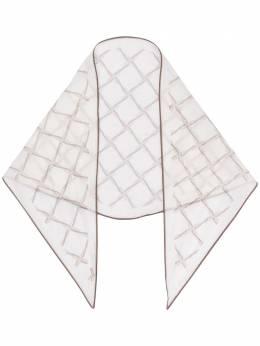 Ermenegildo Zegna клетчатый шарф с контрастной отделкой Z7J6437C