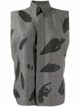 Ami Paris рубашка без рукавов с принтом E20FC270249