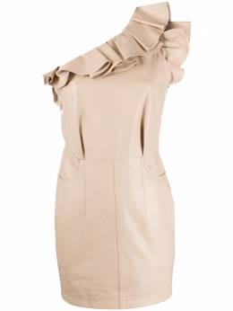 Iro платье мини на одно плечо с оборками 20SWM33CHARLOTT