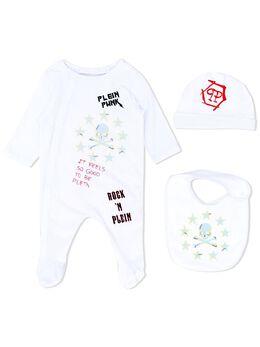Philipp Plein комплект для новорожденного с логотипом P20CARJ0048PJY002N