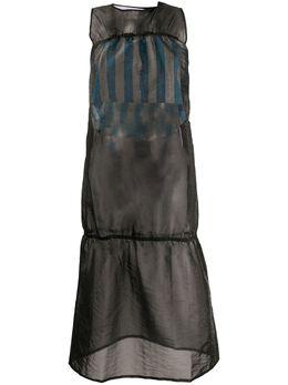 Sunnei полупрозрачное расклешенное платье миди WD03BC999