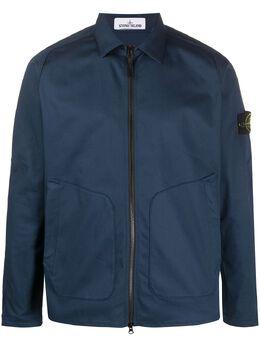 Stone Island куртка-рубашка на молнии MO721511905