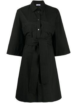 P.a.r.o.s.h. платье-рубашка с укороченными рукавами и поясом D723267CANYON