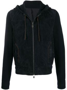 Ermenegildo Zegna Xxx куртка с капюшоном и вязаными рукавами CUL63IB4