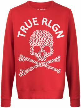 True Religion толстовка с принтом Skull и логотипом M19HF12N7G