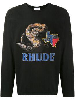 Rhude футболка Rattlesnake с логотипом RHU07MS20030