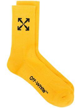 Off-White носки с жаккардовым логотипом OMRA024E20KNI0011810