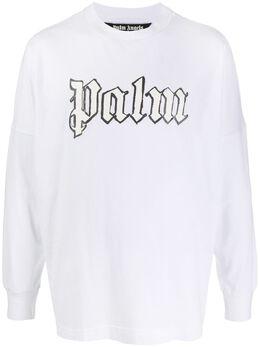 Palm Angels футболка с логотипом PMAB001E20JER0030182