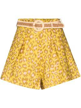 Zimmermann шорты Carnaby с леопардовым принтом 8221ACAR