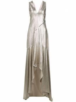 Galvan вечернее платье с эффектом металлик 1885