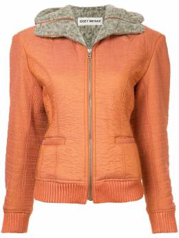 Issey Miyake Pre-Owned куртка на молнии с капюшоном IM73FC002