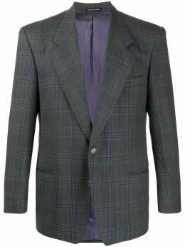 Yves Saint Laurent Pre-Owned однобортный пиджак в клетку 130536